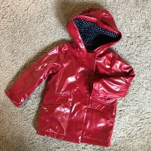 GAP lined red raincoat